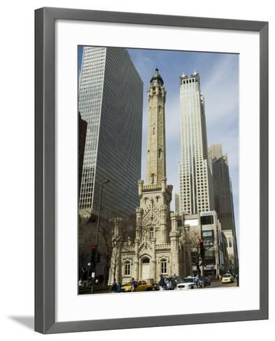 The Historic Water Tower, Near the John Hancock Center, Chicago, Illinois, USA-R H Productions-Framed Art Print