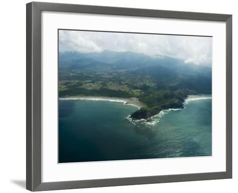 Nicoya Peninsula from the Air, Costa Rica, Central America-R H Productions-Framed Art Print
