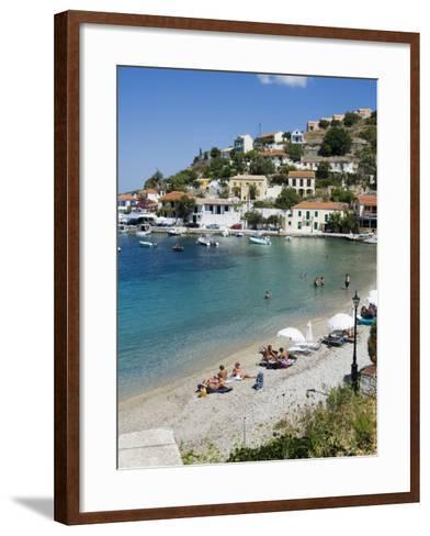 Assos, Kefalonia (Cephalonia), Ionian Islands, Greece-R H Productions-Framed Art Print