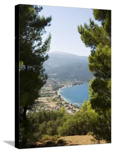 View from Top of Hill Near Sami, Kefalonia (Cephalonia), Ionian Islands, Greece-R H Productions-Stretched Canvas Print