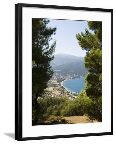 View from Top of Hill Near Sami, Kefalonia (Cephalonia), Ionian Islands, Greece-R H Productions-Framed Art Print