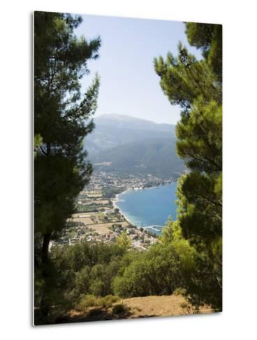 View from Top of Hill Near Sami, Kefalonia (Cephalonia), Ionian Islands, Greece-R H Productions-Metal Print