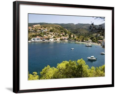 Assos, Kefalonia (Cephalonia), Ionian Islands, Greece-R H Productions-Framed Art Print