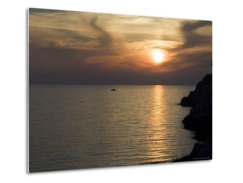 Sunset, Assos, Kefalonia (Cephalonia), Ionian Islands, Greece-R H Productions-Metal Print