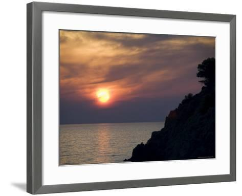 Sunset, Assos, Kefalonia (Cephalonia), Ionian Islands, Greece-R H Productions-Framed Art Print