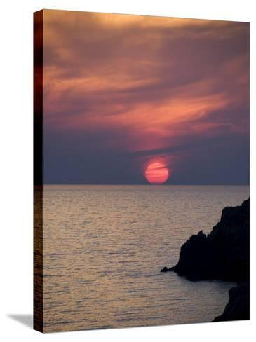 Sunset, Assos, Kefalonia (Cephalonia), Ionian Islands, Greece-R H Productions-Stretched Canvas Print