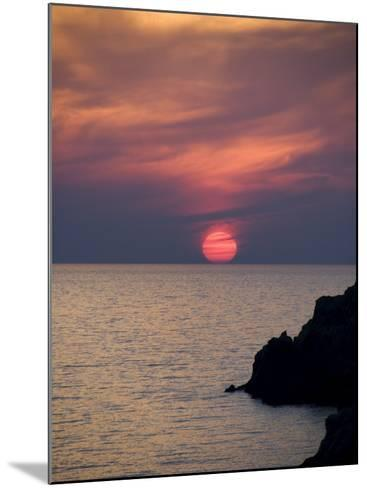 Sunset, Assos, Kefalonia (Cephalonia), Ionian Islands, Greece-R H Productions-Mounted Photographic Print