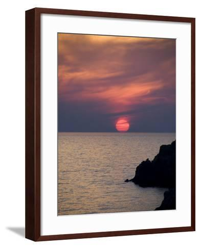 Sunset, Assos, Kefalonia (Cephalonia), Ionian Islands, Greece-R H Productions-Framed Art Print
