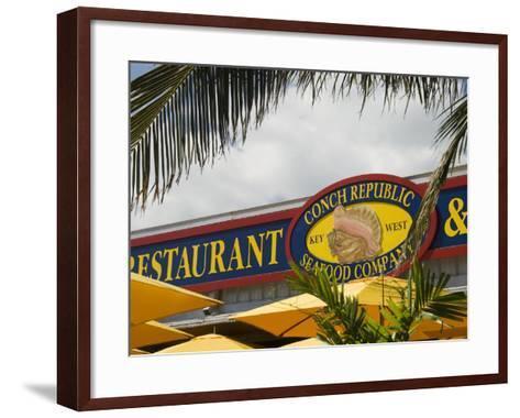 Conch Republic Restaurant Beside the Marina, Key West, Florida, USA-R H Productions-Framed Art Print