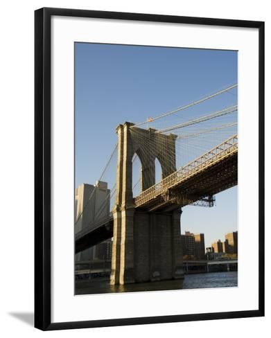 Brooklyn Bridge, New York City, New York, USA-R H Productions-Framed Art Print