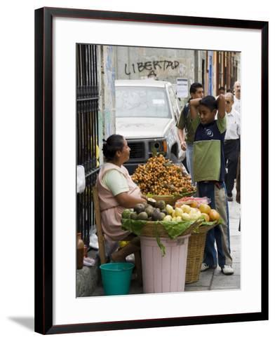 Street Vendor, Oaxaca City, Oaxaca, Mexico, North America-R H Productions-Framed Art Print