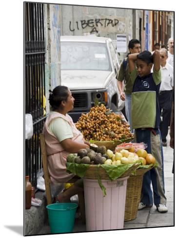 Street Vendor, Oaxaca City, Oaxaca, Mexico, North America-R H Productions-Mounted Photographic Print
