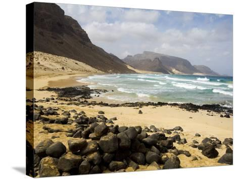 Deserted Beach at Praia Grande, Sao Vicente, Cape Verde Islands, Africa-R H Productions-Stretched Canvas Print