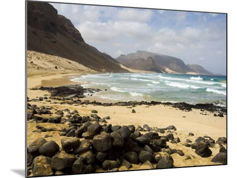Deserted Beach at Praia Grande, Sao Vicente, Cape Verde Islands, Africa-R H Productions-Mounted Photographic Print