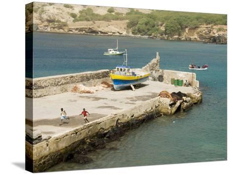 Port at Tarrafal, Santiago, Cape Verde Islands, Africa-R H Productions-Stretched Canvas Print