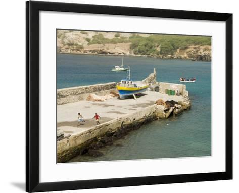 Port at Tarrafal, Santiago, Cape Verde Islands, Africa-R H Productions-Framed Art Print