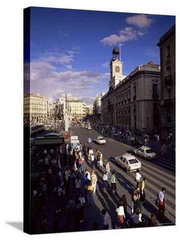 Puerta Del Sol, from the West, Madrid, Spain-Upperhall-Stretched Canvas Print