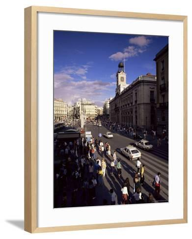 Puerta Del Sol, from the West, Madrid, Spain-Upperhall-Framed Art Print