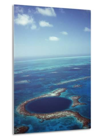 Blue Hole, Lighthouse Reef, Belize, Central America-Upperhall-Metal Print