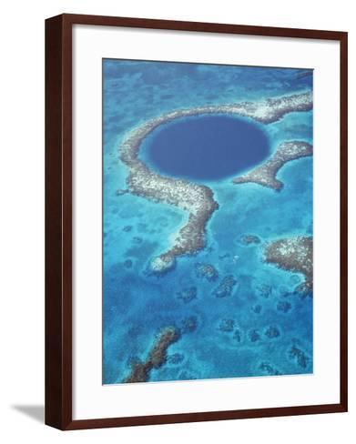 Blue Hole, Lighthouse Reef, Belize, Central America-Upperhall-Framed Art Print
