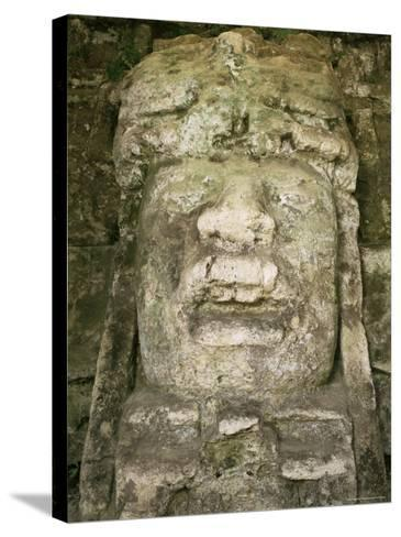 Mask 4M High, Structure P9-56, Lamanai, Belize, Central America-Upperhall-Stretched Canvas Print
