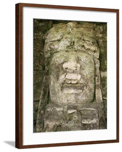 Mask 4M High, Structure P9-56, Lamanai, Belize, Central America-Upperhall-Framed Art Print