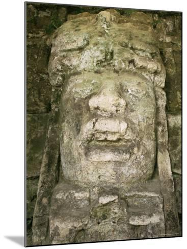 Mask 4M High, Structure P9-56, Lamanai, Belize, Central America-Upperhall-Mounted Photographic Print