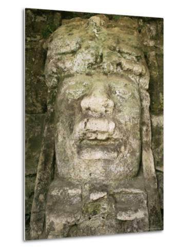 Mask 4M High, Structure P9-56, Lamanai, Belize, Central America-Upperhall-Metal Print