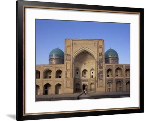 Facade of the Mir-I-Arab Madrasah, Bukhara, Uzbekistan, Central Asia-Upperhall-Framed Art Print