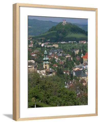View Over the Town, Banska Stiavnica, Unesco World Heritage Site, Slovakia-Upperhall-Framed Art Print