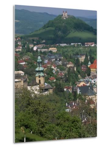 View Over the Town, Banska Stiavnica, Unesco World Heritage Site, Slovakia-Upperhall-Metal Print