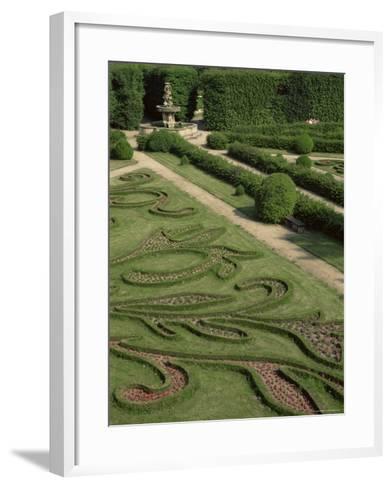 Garden of Flora, Kromeriz Palace, Unesco World Heritage Site, South Moravia, Czech Republic-Upperhall-Framed Art Print