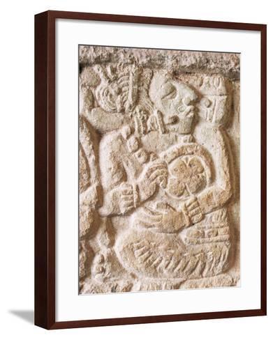 Detail, Structure 9N-82, Copan, Unesco World Heritage Site, Honduras, Central America-Upperhall-Framed Art Print