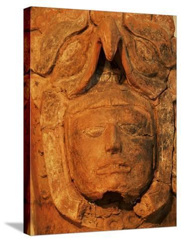 Mayan Funerary Urn, Popol Vuh Museum, Guatemala City, Guatemala, Central America-Upperhall-Stretched Canvas Print