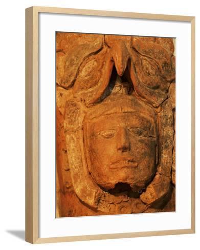 Mayan Funerary Urn, Popol Vuh Museum, Guatemala City, Guatemala, Central America-Upperhall-Framed Art Print
