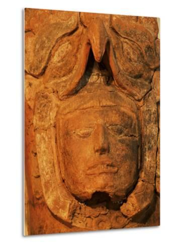 Mayan Funerary Urn, Popol Vuh Museum, Guatemala City, Guatemala, Central America-Upperhall-Metal Print