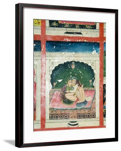 Scenes from the Kama Sutra from Cupboard in the Juna Mahal Fort, Dungarpur, Rajasthan State, India-R H Productions-Framed Art Print