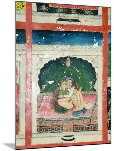 Scenes from the Kama Sutra from Cupboard in the Juna Mahal Fort, Dungarpur, Rajasthan State, India-R H Productions-Mounted Photographic Print