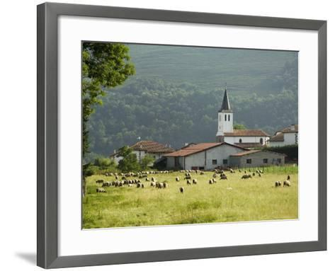 Countryside Near St. Jean Pied De Port, Basque Country, Pyrenees-Atlantiques, Aquitaine, France-R H Productions-Framed Art Print