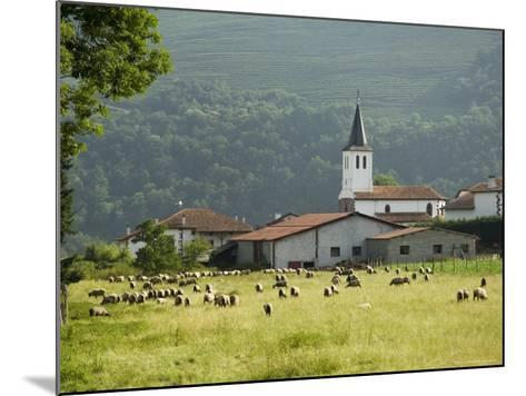 Countryside Near St. Jean Pied De Port, Basque Country, Pyrenees-Atlantiques, Aquitaine, France-R H Productions-Mounted Photographic Print