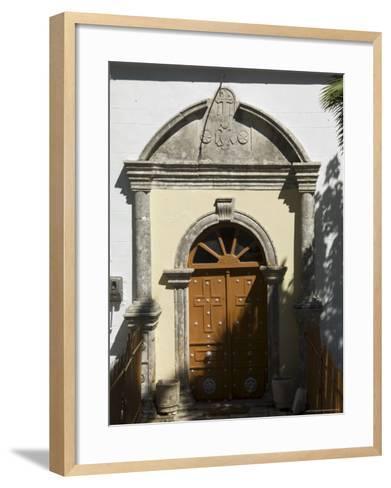 900 Year Old Anogi Church with 500 Year Old Frescoes, Anogi, Ithaka, Ionian Islands, Greece-R H Productions-Framed Art Print
