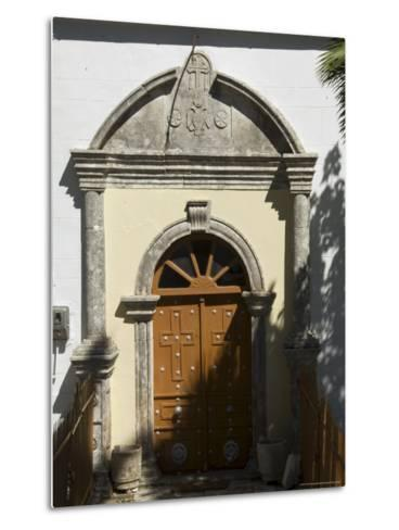 900 Year Old Anogi Church with 500 Year Old Frescoes, Anogi, Ithaka, Ionian Islands, Greece-R H Productions-Metal Print