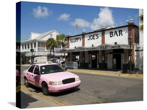 Sloppy Joe's Bar, Famous Because Ernest Hemingway Drank There, Duval Street, Florida-R H Productions-Stretched Canvas Print