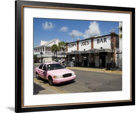Sloppy Joe's Bar, Famous Because Ernest Hemingway Drank There, Duval Street, Florida-R H Productions-Framed Art Print