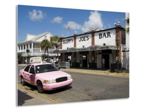 Sloppy Joe's Bar, Famous Because Ernest Hemingway Drank There, Duval Street, Florida-R H Productions-Metal Print
