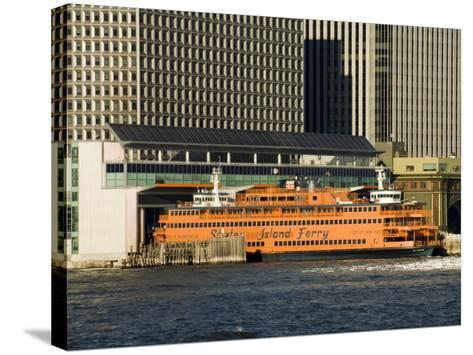 Staten Island Ferry, Business District, Lower Manhattan, New York City, New York, USA-R H Productions-Stretched Canvas Print