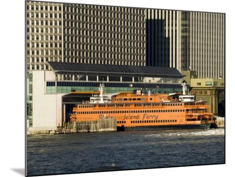 Staten Island Ferry, Business District, Lower Manhattan, New York City, New York, USA-R H Productions-Mounted Photographic Print