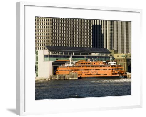 Staten Island Ferry, Business District, Lower Manhattan, New York City, New York, USA-R H Productions-Framed Art Print