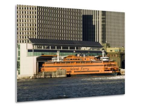 Staten Island Ferry, Business District, Lower Manhattan, New York City, New York, USA-R H Productions-Metal Print