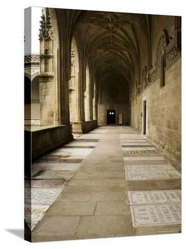 Graves in the Cloisters of Santiago Cathedral, Santiago De Compostela, Galicia, Spain-R H Productions-Stretched Canvas Print